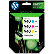 HP® 940 Ink Cartridge Como Pack CN065FN, Cyan/Magenta/Yellow, 3/Pack