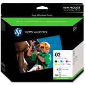 HP® 02 Photo Value Pack Q7964AN, Multi-Color, 6/Pack