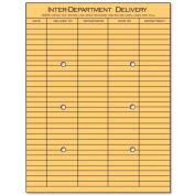 Interoffice Envelopes, Kraft, String & Button, 10 x 13, 100/Box