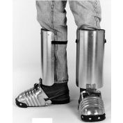"""Ellwood Safety Men's Foot-Shin Guards, Steel Toe Clip, Leather Strap, 5-1/2""""W, Large, 1 Pair"""