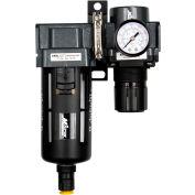 "Exelair EX45FR40A-02P Filter/Regulator Polycarbonate Bowl 1/4"" NPT 145 PSI 40 Micron"