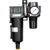 "Exelair EX45FR40A-04M Filter/Regulator Metal Bowl 1/2"" NPT 145 PSI 40 Micron"