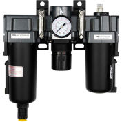 """Exelair EX45FRL40A-02M Filter/Regulator/Lubricator Metal Bowl 1/4"""" NPT 145 PSI 40 Micron"""