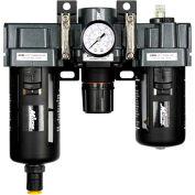"Exelair EX45FRL40A-03P Filter/Regulator/Lubricator Polycarbonate Bowl 3/8"" NPT 145 PSI40 Micron"