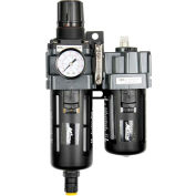 "Exelair EX45PBL40A-02P Filter/Regulator/Lubricator Polycarbonate Bowl 1/4"" NPT 145 PSI40 Micron"