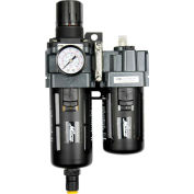 "Exelair EX45PBL40A-03P Filter/Regulator/Lubricator Polycarbonate Bowl 3/8"" NPT 145 PSI40 Micron"