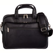 "Bugatti EXB507 Synthetic Leather Executive Briefcase, 15.6"" Computer Case Black"
