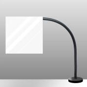 """Electrix 1012 Plexiglass Shop Shield W/Magnetic Base, 12"""" x 12"""""""