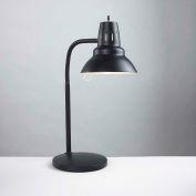 "Electrix 2015 Gooseneck Incandescent Desk Lamp W/Weighted Base, 21"" Reach, 120V, 60W"