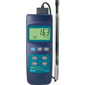 """Extech 407119 Heavy Duty CFM Hot Wire Thermo-Anemometer, Blue, Probe Sensor, 7.9""""L"""