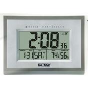 Extech 445706 Hygro-Thermometer Alarm Clock, White/Silver