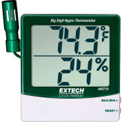 Extech 445715 Humidity Alert W/Remote Probe, Silver/Green