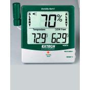 Extech 445815-NIST Big Digit Humidity Alert W/Remote Probe, Adjustable Sensitivity, NIST Certified