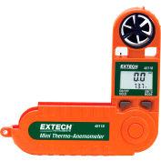 "Extech 45118 Mini Thermo-Anemometer, Orange/ Green, Vane Sensor, 5.25""L"