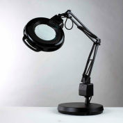 """Electrix 7125 3-Diopter Lens Fluorescent Magnifier W/Weighted Base, 30"""" Reach, 120V, 22W"""