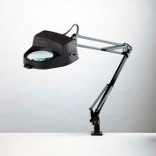 """Electrix 7268 3-Diopter Lens Incandescent Magnifier, 33"""" Reach, Clamp-On, 120V"""