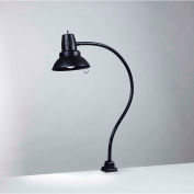 "Electrix 7293 Incandescent Gooseneck Work Lamp, Clamp On, 33"" Reach, 120V, 100W"