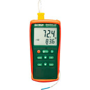 Extech EA11A Easy View Type K Single Input Thermometer, Orange/Green