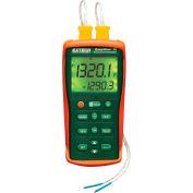 Extech EA15-NIST Dual Input Temperature Datalogger, Orange/Green NIST Certified