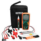 Extech EX505-K Heavy Duty Industrial MultiMeter Kit, Orange/Green, Case Included, AC Capable