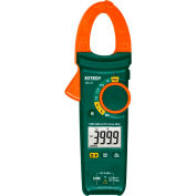 Extech MA445 True RMS AC/DC Clamp Meter & Non-Contact Voltage Dector, Type K, 400A, Orange/Green