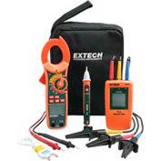 Extech MA640-K Phase Rotation/Clamp Meter Test Kit, Orange/Green