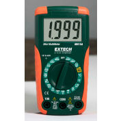Extech MN15A Digital Mini MultiMeter, Orange/Green, AC Capable