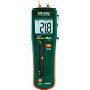 """Extech MO260 Combination Pin/Pinless Moisture Meter, Reachargeable, 0.44""""L"""