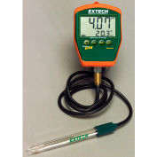 Extech PH220-C Waterproof Palm pH Meter W/Temperature, Electrode W/ Cable