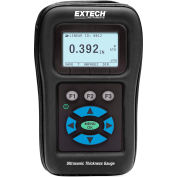 Extech TKG150 Digital Ultrasonic Thickness Gauge/Datalogger, Black, Case Included