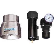 Exair Adjustable Air Amplifier Kit, 1-1/4 In., Stainless Steel