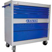 """Expert E010124 Roller Cabinet, 41""""W x 18""""D x 41""""H, 7 Drawer, Grey/Blue, 230 Lbs"""