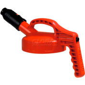Oil Safe Stumpy Pour Spout Lid, Orange, 100506
