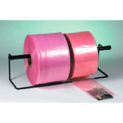 "Anti-Static Poly Tubing 12"" x 1075' 4 Mil Pink Roll"
