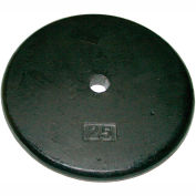 Iron Disc Weight Plate, 25 lb.