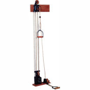 Double Handle Chest/Floor Weight Pulley System with Single Weight Stack, 5 x 2.2 lb. Weights
