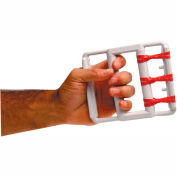 CanDo® Latex Free Rubber Band Hand Exerciser with 5 Red Bands