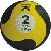 """CanDo® Firm Medicine Ball, 2 lb., 8"""" Diameter, Yellow"""