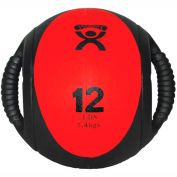 """CanDo® Dual-Handle Medicine Ball, 12 lb., 9"""" Dia (23 cm), Red"""