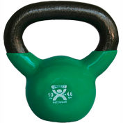 CanDo® Vinyl-Coated Cast Iron Kettlebell, 10 lb., Green