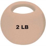 """CanDo® One-Handle Medicine Ball, 2 lb., 9"""" Diameter, Tan"""