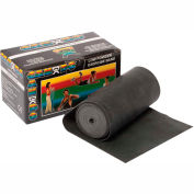 CanDo® Low Powder Exercise Band, Black, 6 Yard Roll, 1 Roll/Box