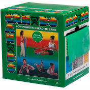 CanDo® Low Powder Exercise Band, Green, 25 Yard Roll, 1 Roll/Box