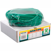 CanDo® Low Powder Exercise Tubing, Green, 100' Roll/Box
