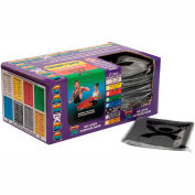 """CanDo® Latex Free Pre-Cut Exercise Band, X-Heavy, Black, 48""""L Strips, Box of 40"""