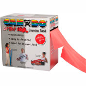 CanDo® Perf 100® Latex Free Exercise Band, Red, 100 Yard Roll, 1 Roll/Box