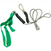 CanDo® Bungee Exercise Cord with Attachments, 4' Cord, Green