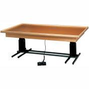 "Deluxe Electric Hi-Low Raised Rim Platform Table, 84""L x 60""W x 23"" - 32""H"