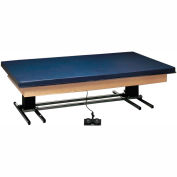 """Deluxe Electric Hi-Low Upholstered Mat Platform Table, 96""""L x 72""""W x 23"""" - 32""""H"""