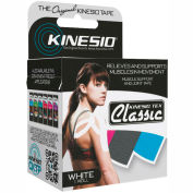 "Kinesio® Tex Classic Kinesiology Tape, 2"" x 4.4 yds, White, 6 Rolls"